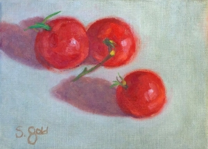 """Three Organic Campari Tomatoes"""